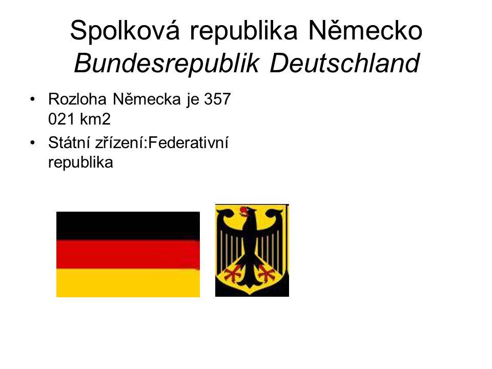 Spolková republika Německo Bundesrepublik Deutschland