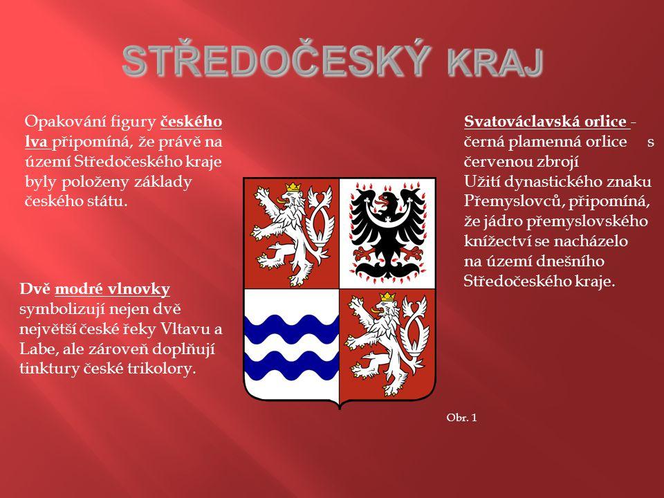 STŘEDOČESKÝ KRAJ Opakování figury českého lva připomíná, že právě na území Středočeského kraje byly položeny základy českého státu.