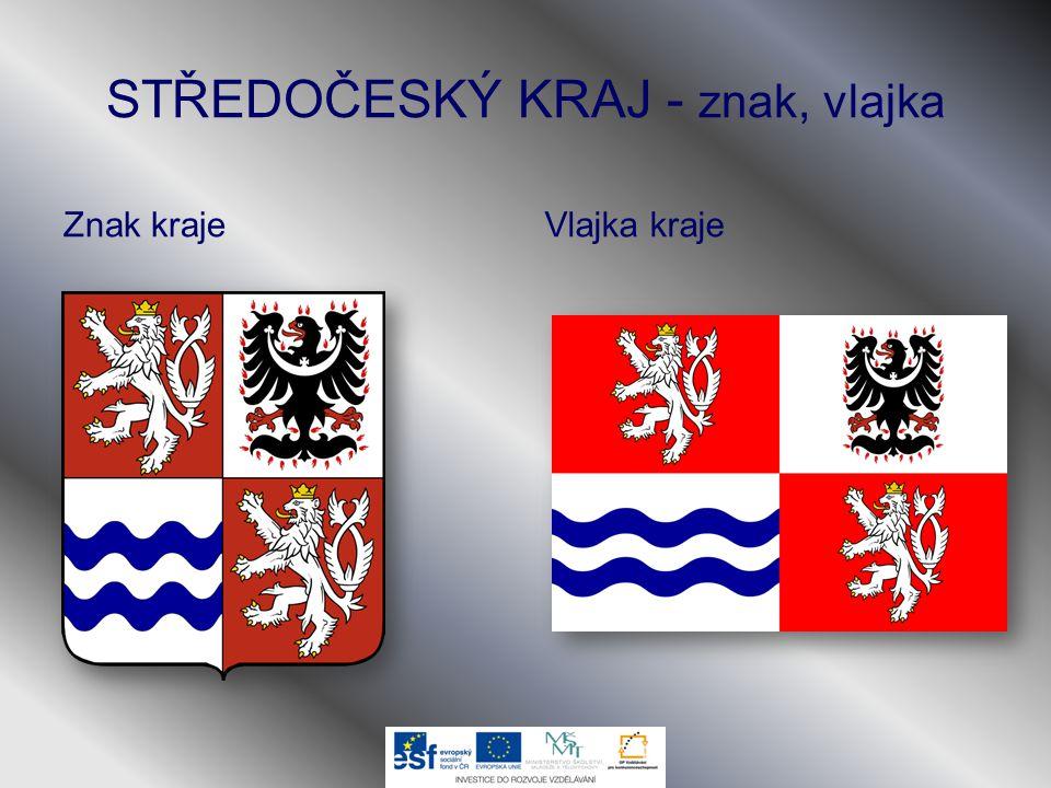 STŘEDOČESKÝ KRAJ - znak, vlajka