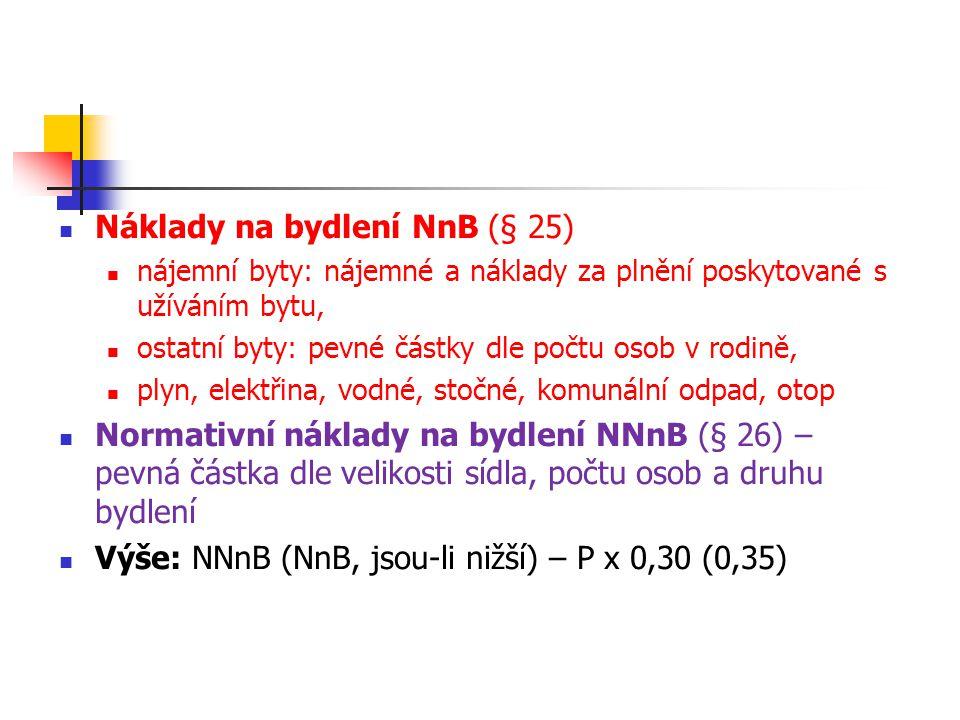 Náklady na bydlení NnB (§ 25)
