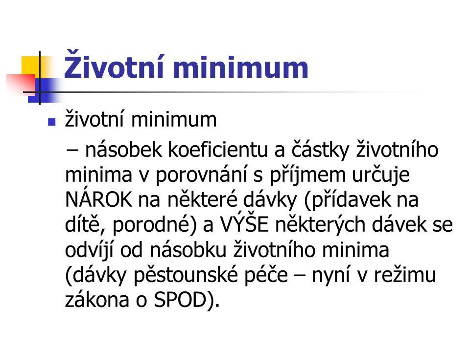 Životní minimum životní minimum