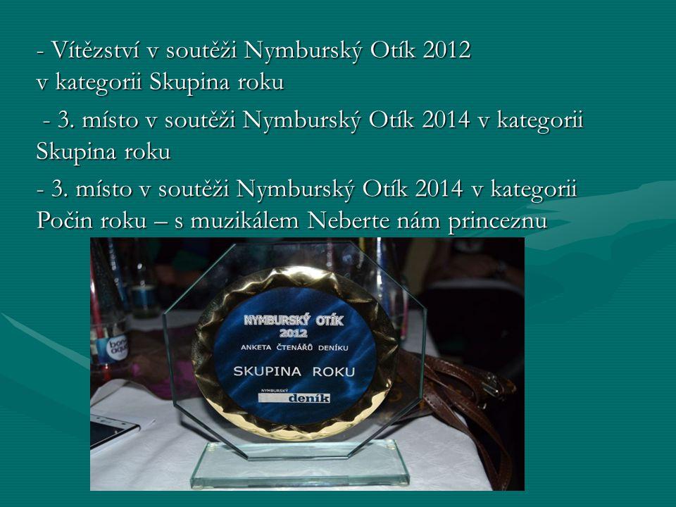 - Vítězství v soutěži Nymburský Otík 2012 v kategorii Skupina roku