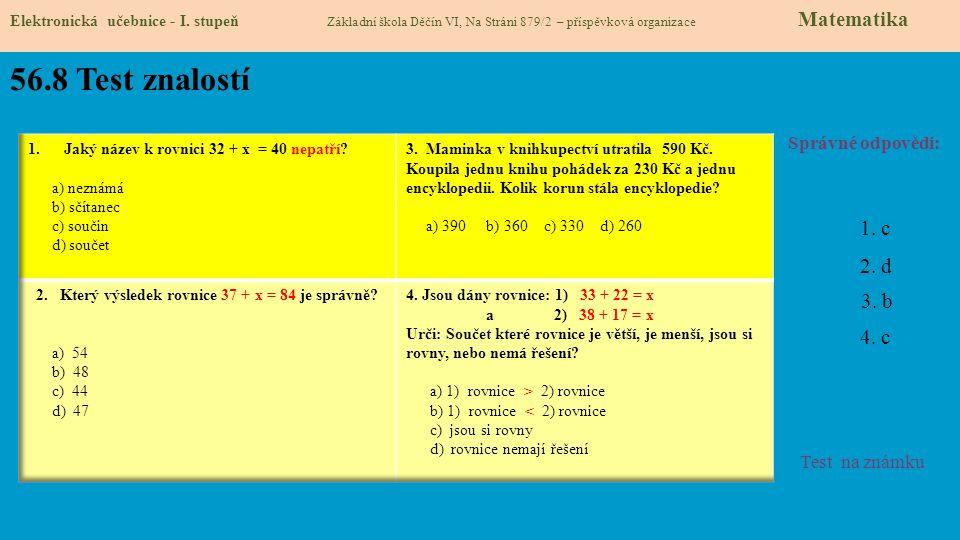 Který výsledek rovnice 37 + x = 84 je správně