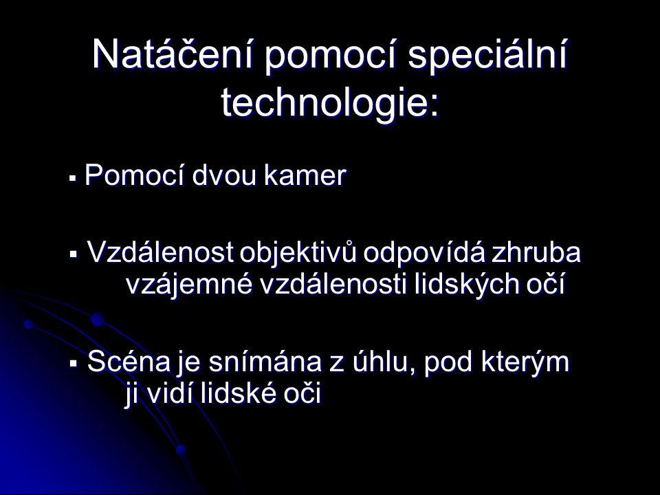Natáčení pomocí speciální technologie: