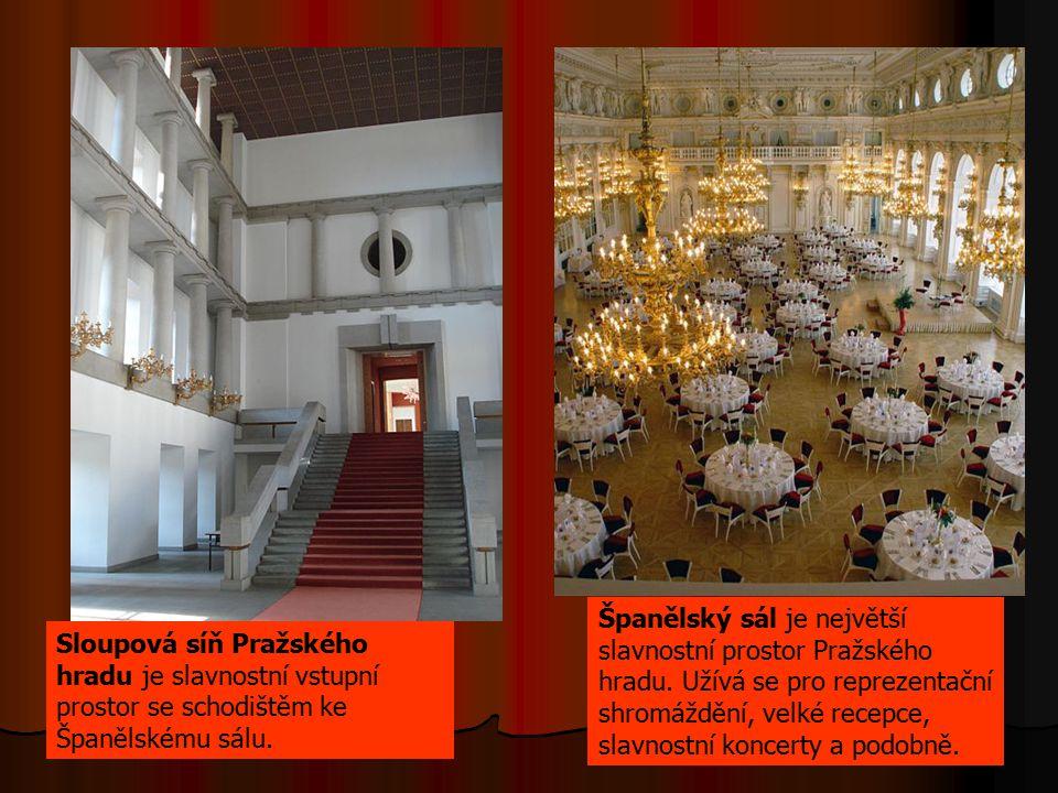 Španělský sál je největší slavnostní prostor Pražského hradu