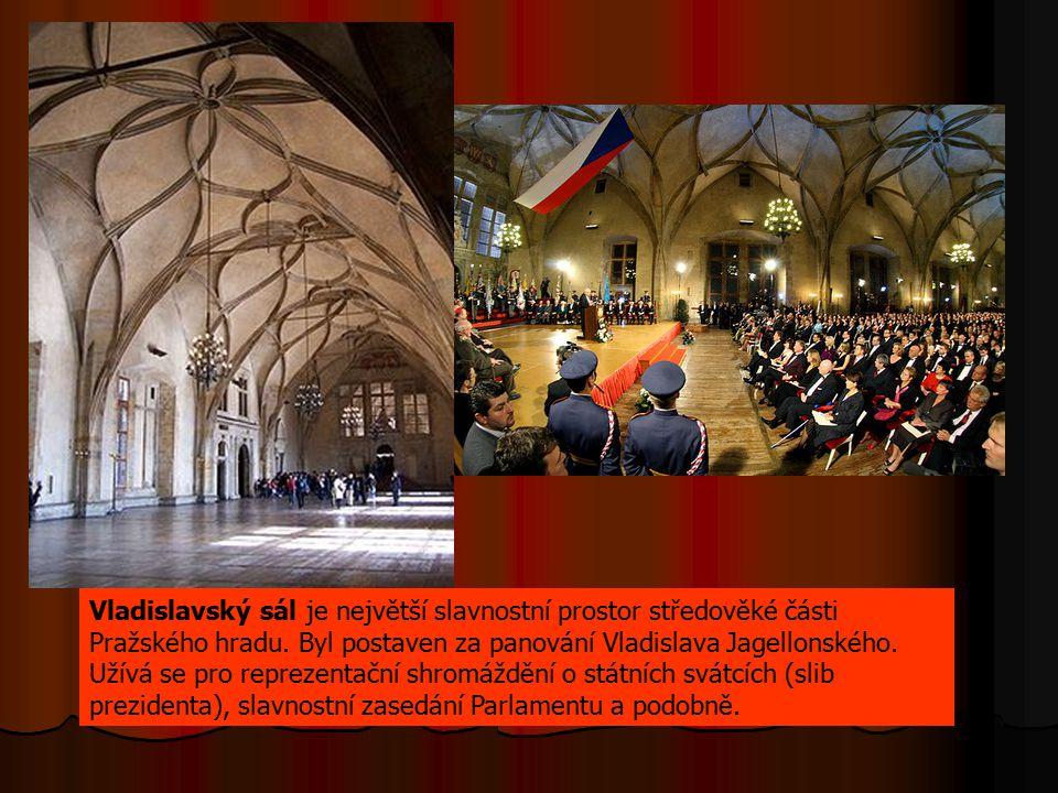 Vladislavský sál je největší slavnostní prostor středověké části Pražského hradu.