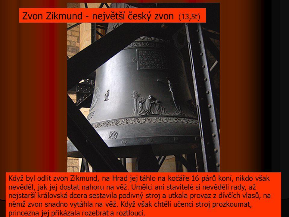 Zvon Zikmund - největší český zvon (13,5t)