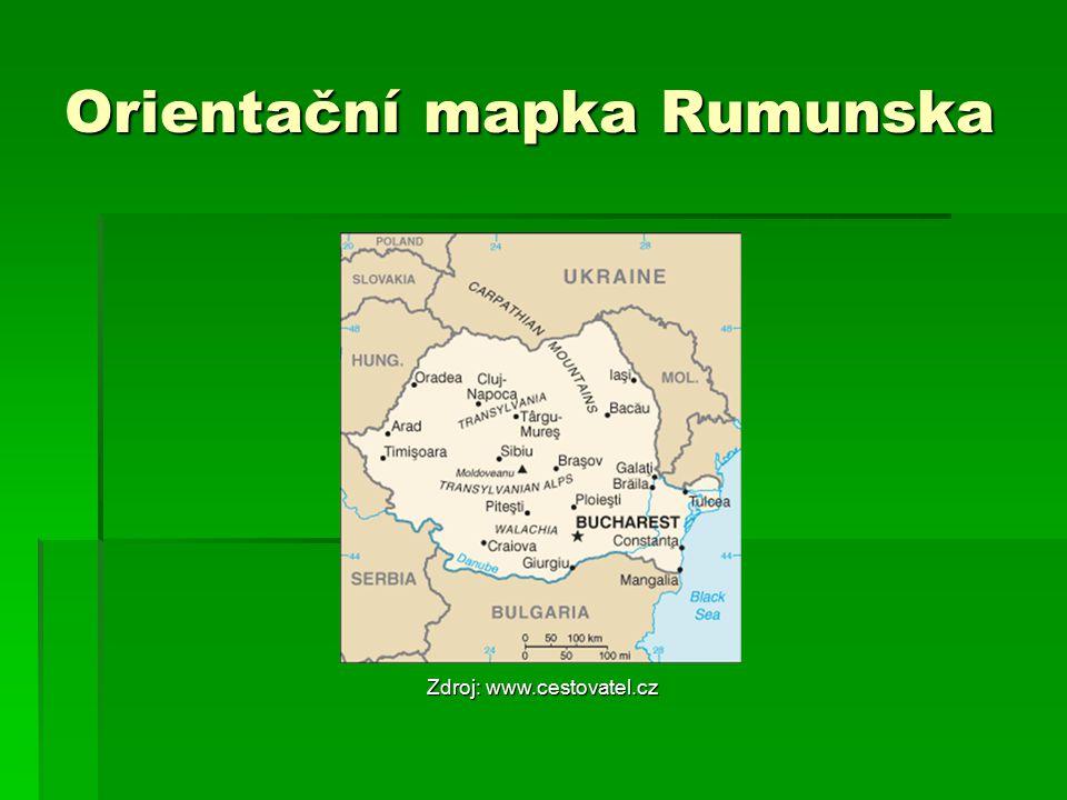 Orientační mapka Rumunska