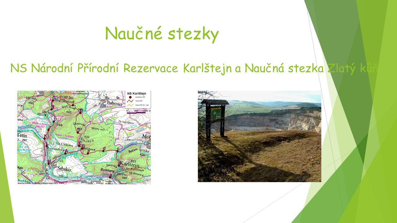 Naučné stezky NS Národní Přírodní Rezervace Karlštejn a Naučná stezka Zlatý kůň