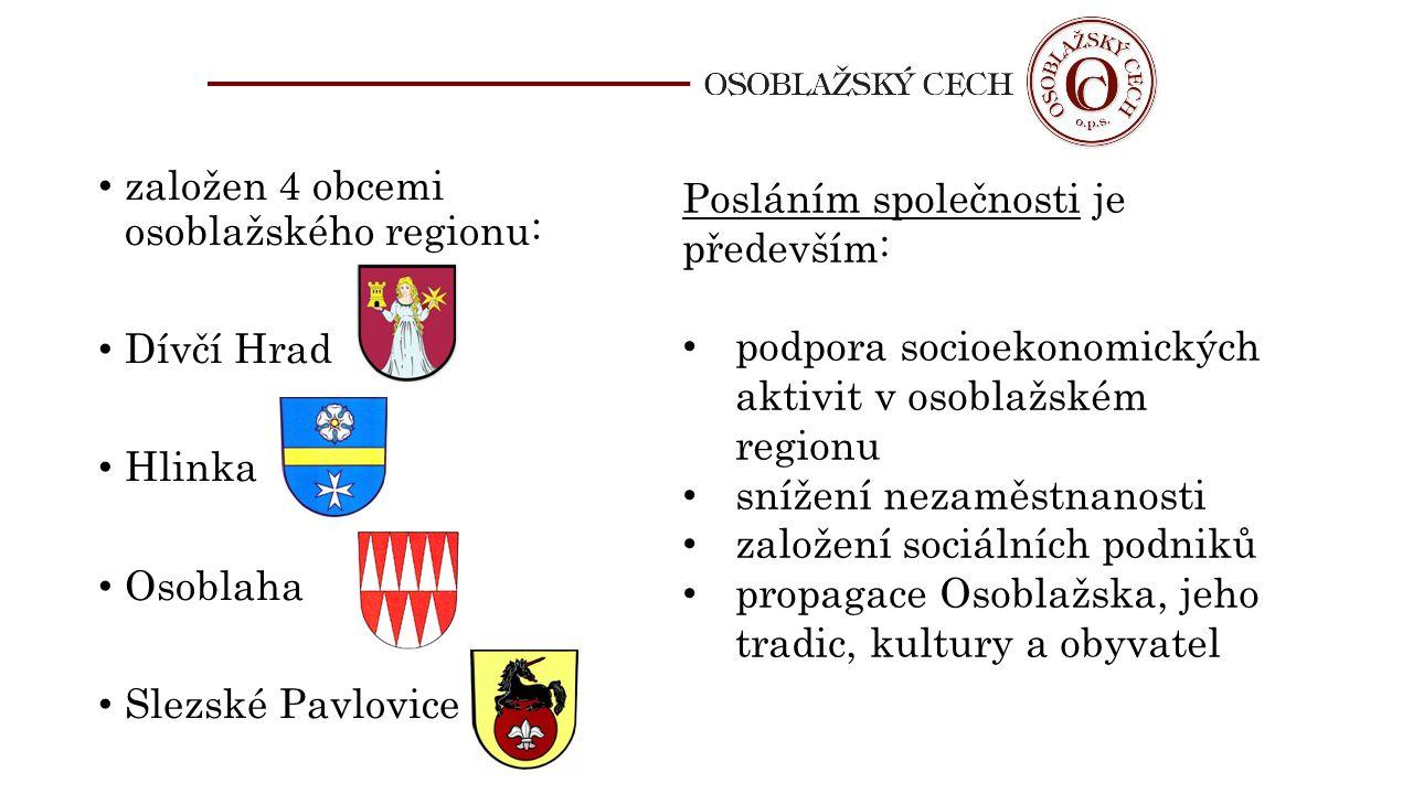 založen 4 obcemi osoblažského regionu: