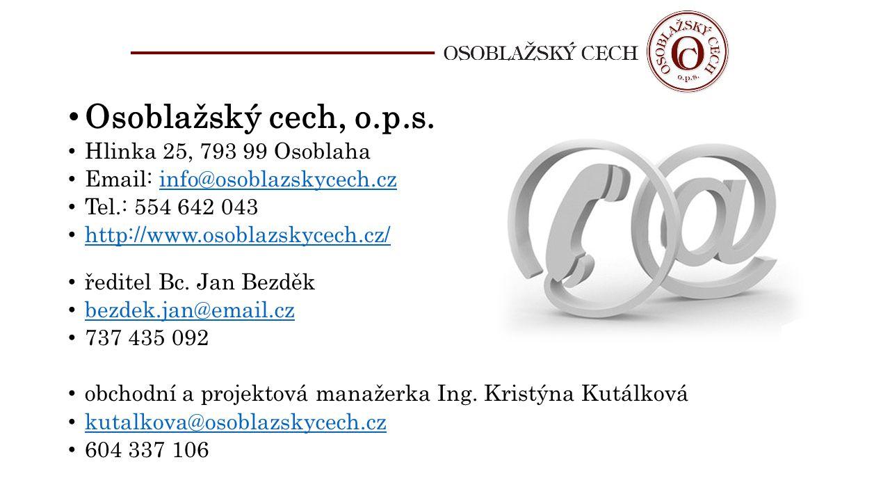 Osoblažský cech, o.p.s. Hlinka 25, 793 99 Osoblaha