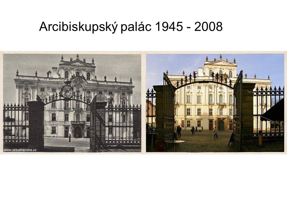 Arcibiskupský palác 1945 - 2008