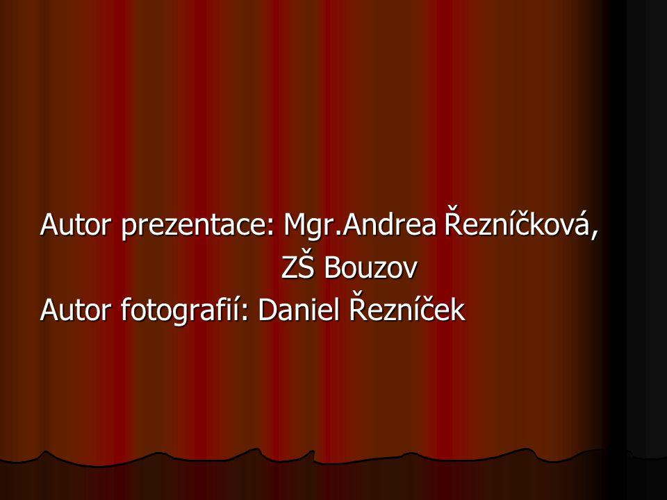 Autor prezentace: Mgr.Andrea Řezníčková,