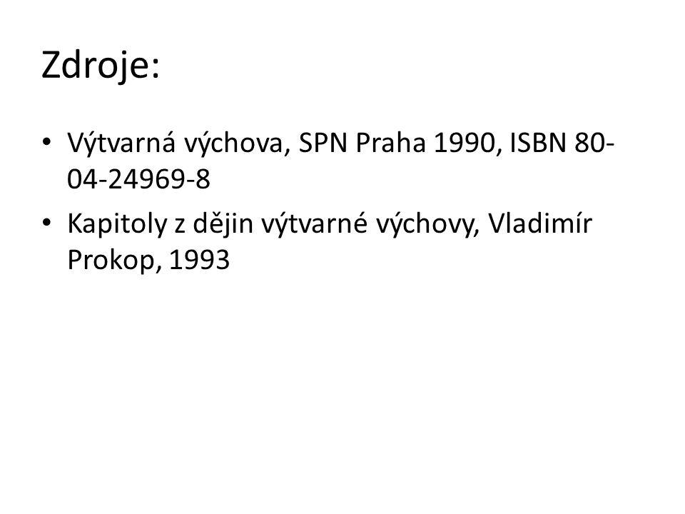 Zdroje: Výtvarná výchova, SPN Praha 1990, ISBN 80-04-24969-8