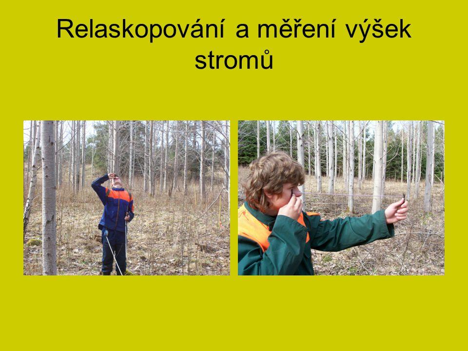 Relaskopování a měření výšek stromů