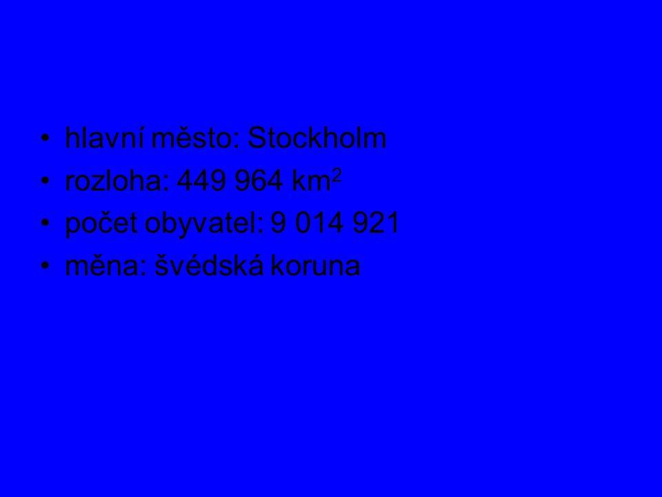 hlavní město: Stockholm