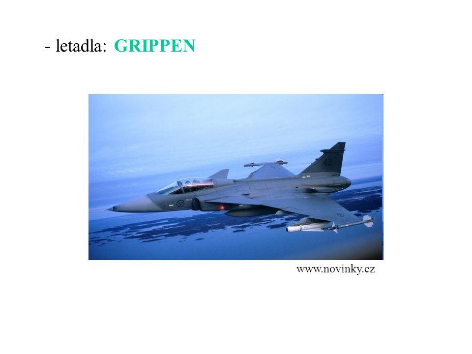 - letadla: GRIPPEN www.novinky.cz