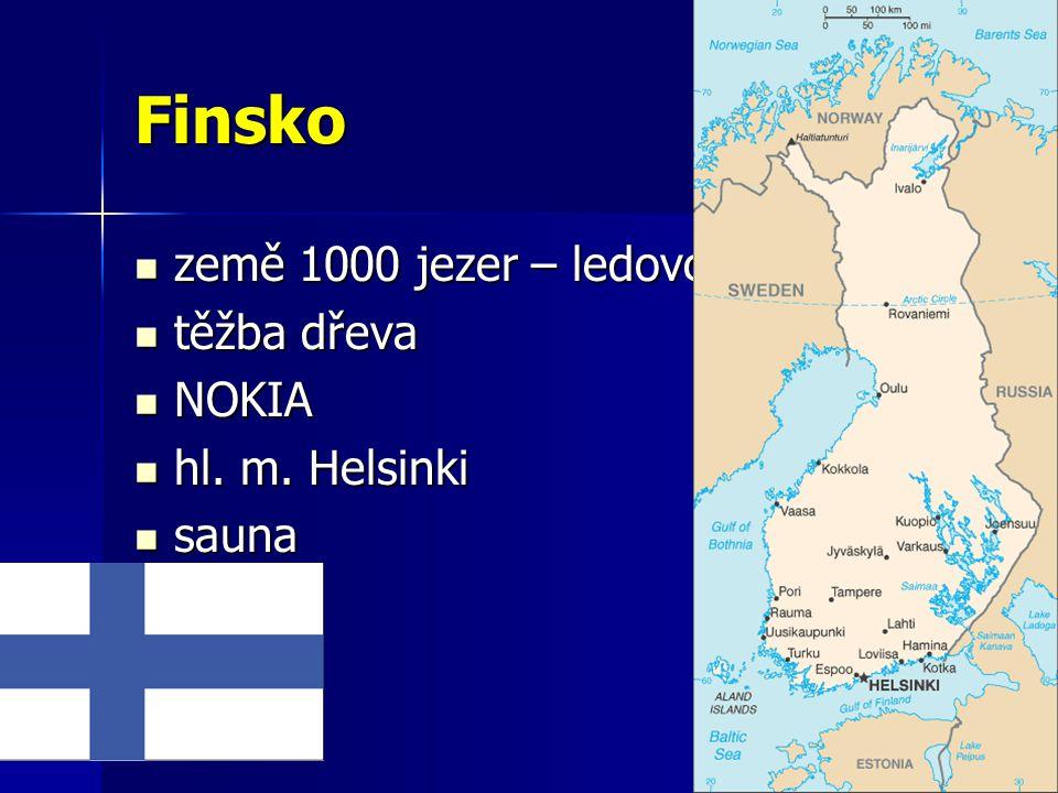 Finsko země 1000 jezer – ledovcový původ těžba dřeva NOKIA