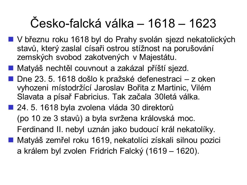 Česko-falcká válka – 1618 – 1623