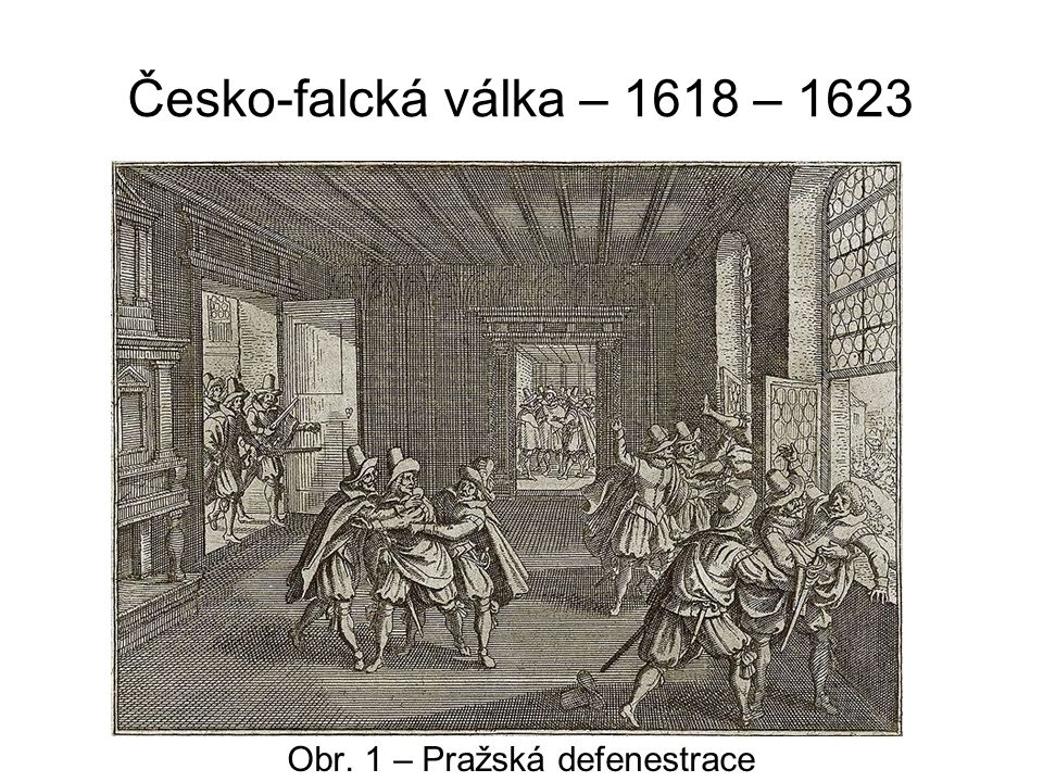 Obr. 1 – Pražská defenestrace
