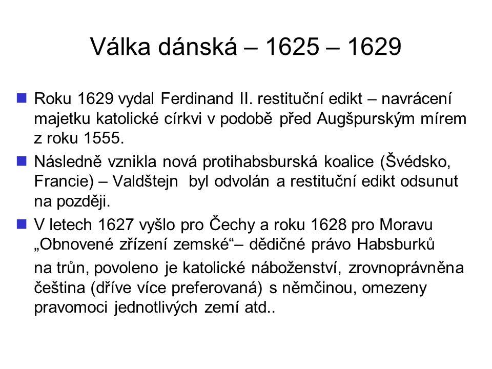 Válka dánská – 1625 – 1629