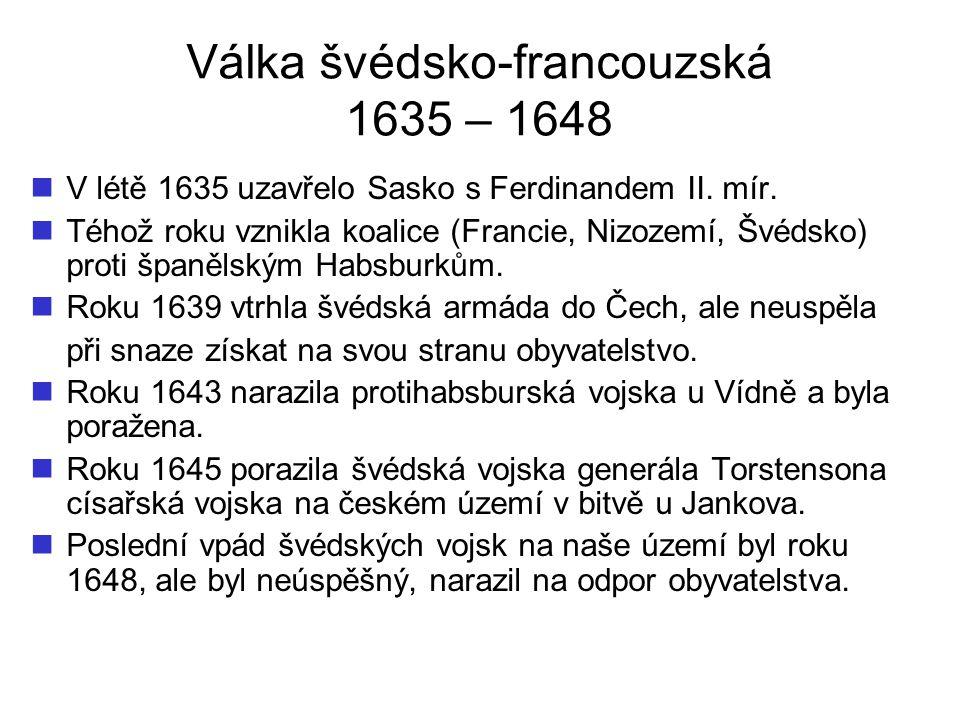 Válka švédsko-francouzská 1635 – 1648