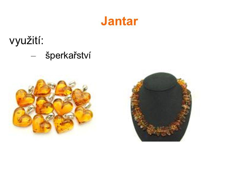 Jantar využití: šperkařství