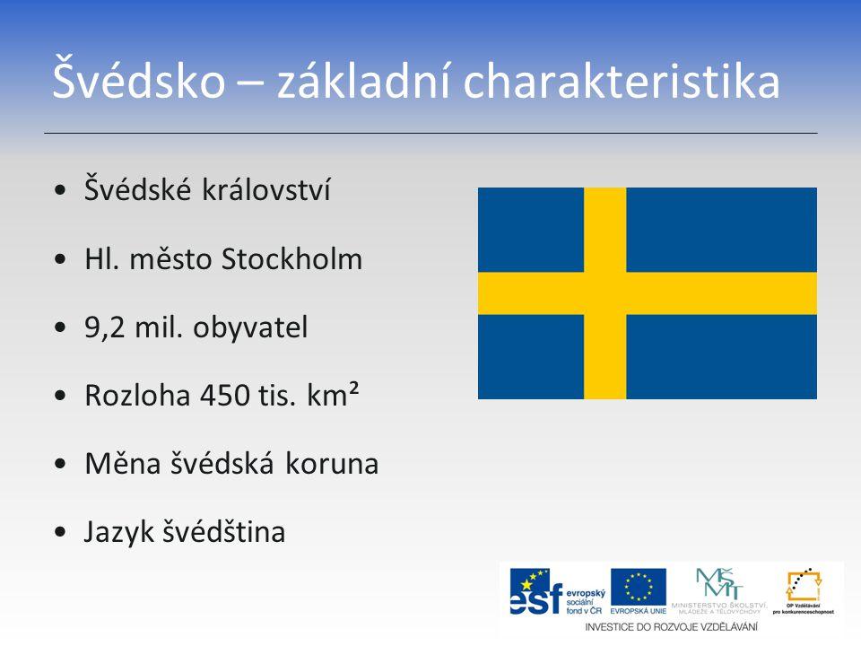 Švédsko – základní charakteristika