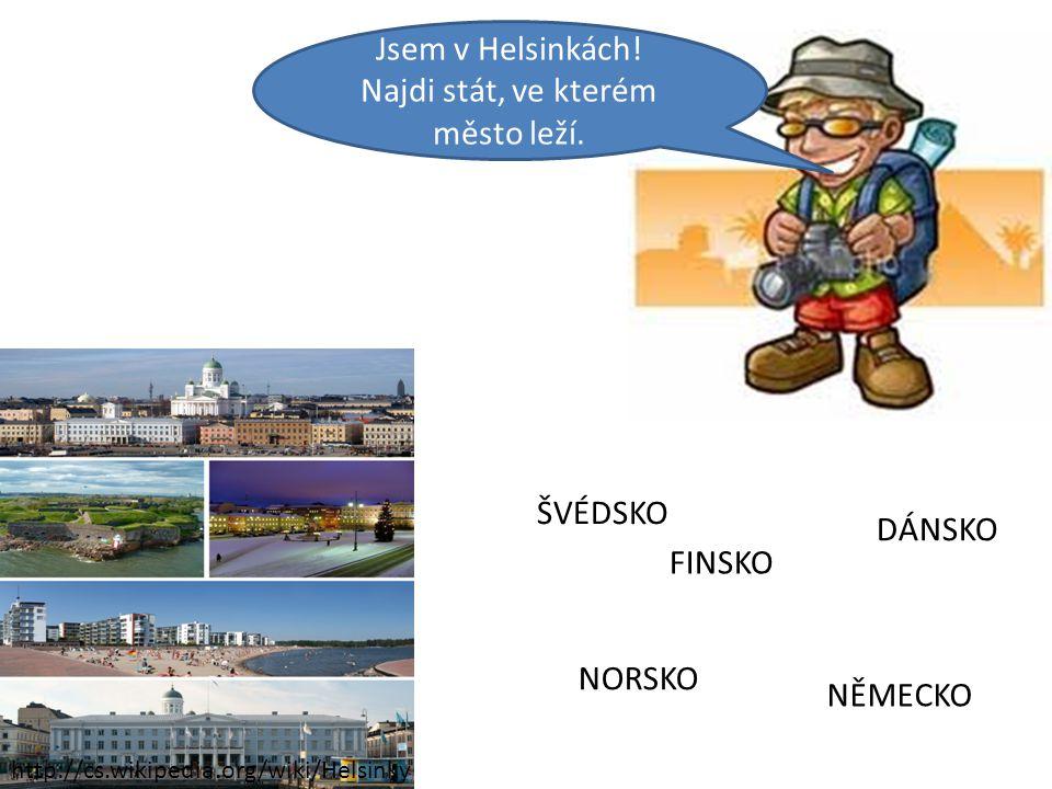 Jsem v Helsinkách! Najdi stát, ve kterém město leží.