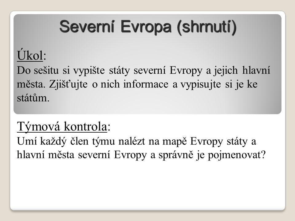 Severní Evropa (shrnutí)