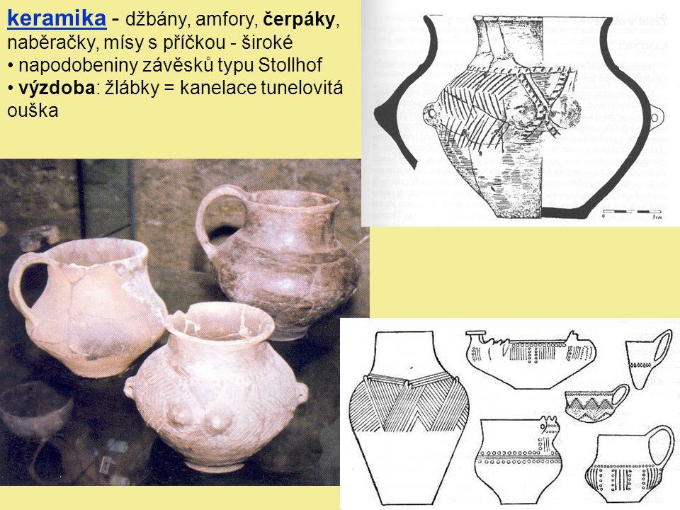 keramika - džbány, amfory, čerpáky, naběračky, mísy s příčkou - široké