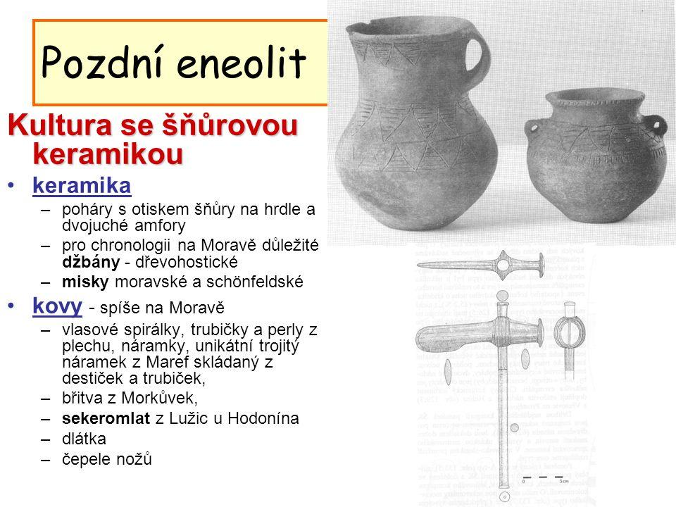 Pozdní eneolit Kultura se šňůrovou keramikou keramika