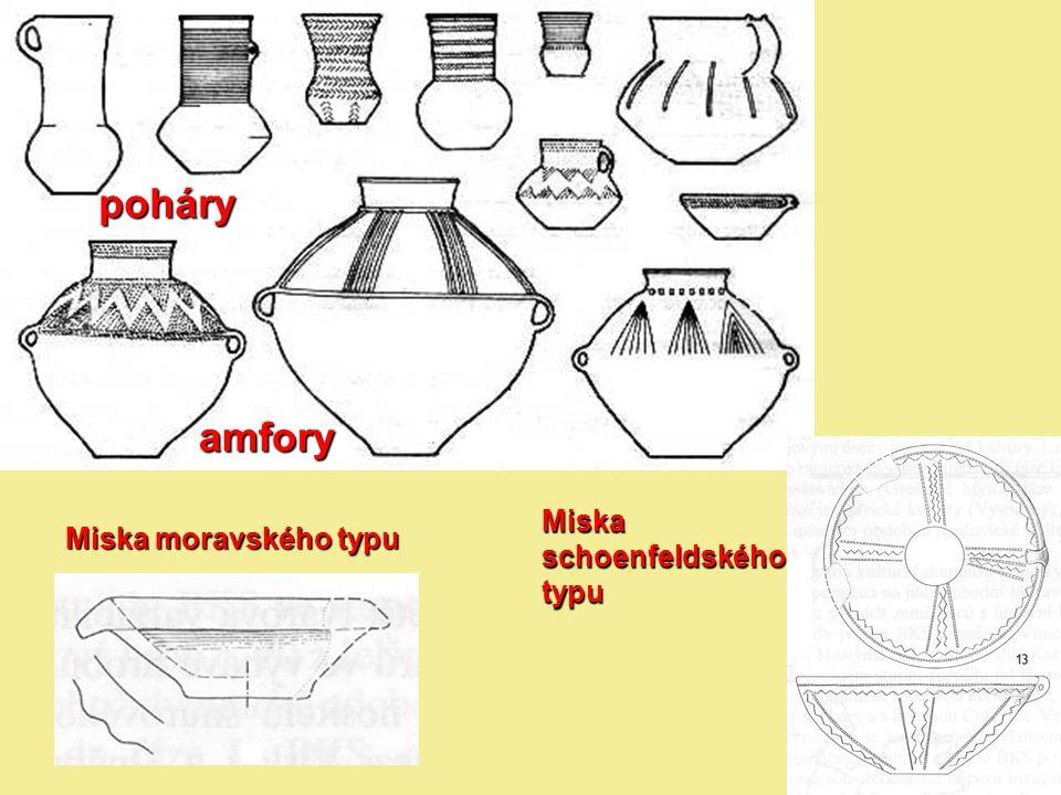 poháry amfory Miska schoenfeldského typu Miska moravského typu