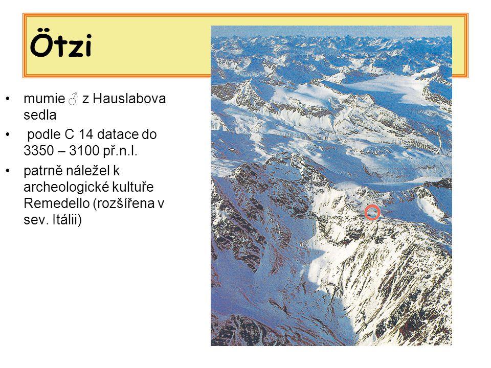 Ötzi mumie ♂ z Hauslabova sedla
