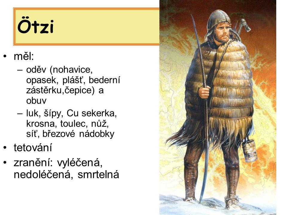 Ötzi měl: tetování zranění: vyléčená, nedoléčená, smrtelná