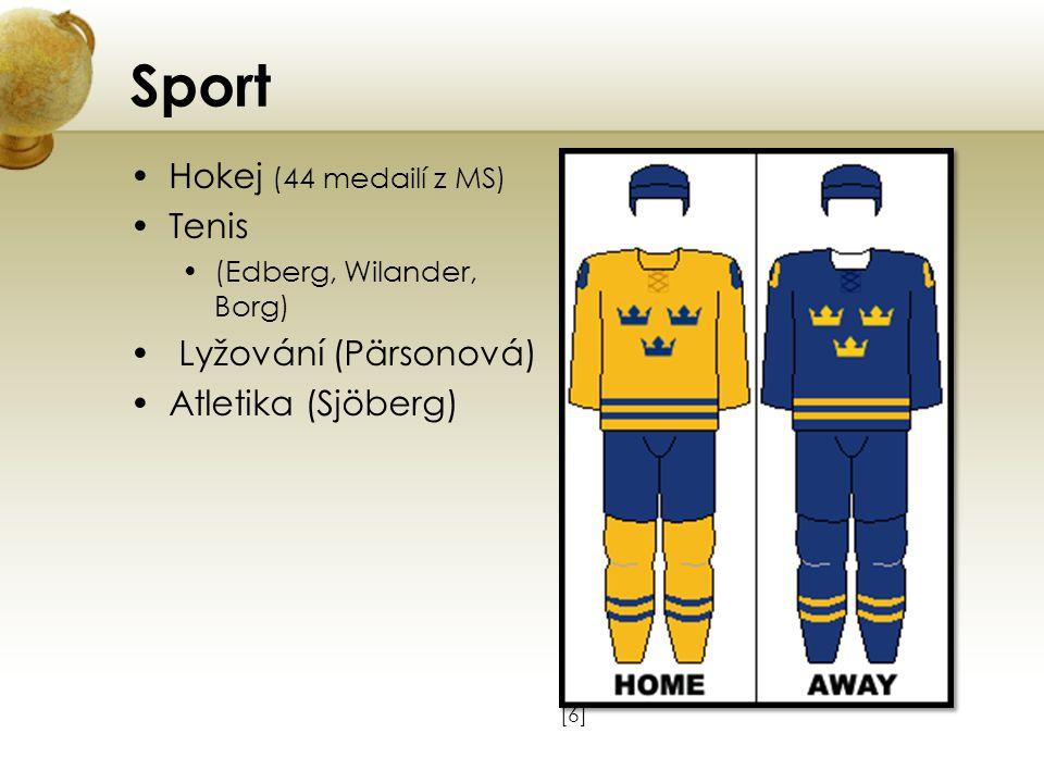 Sport Hokej (44 medailí z MS) Tenis Lyžování (Pärsonová)