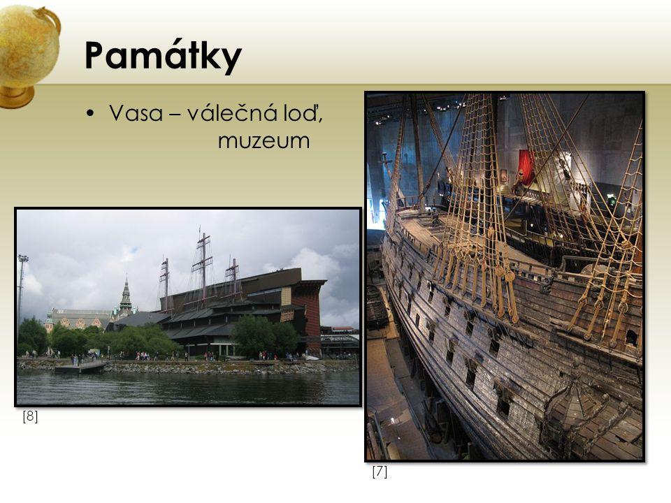 Památky Vasa – válečná loď, muzeum