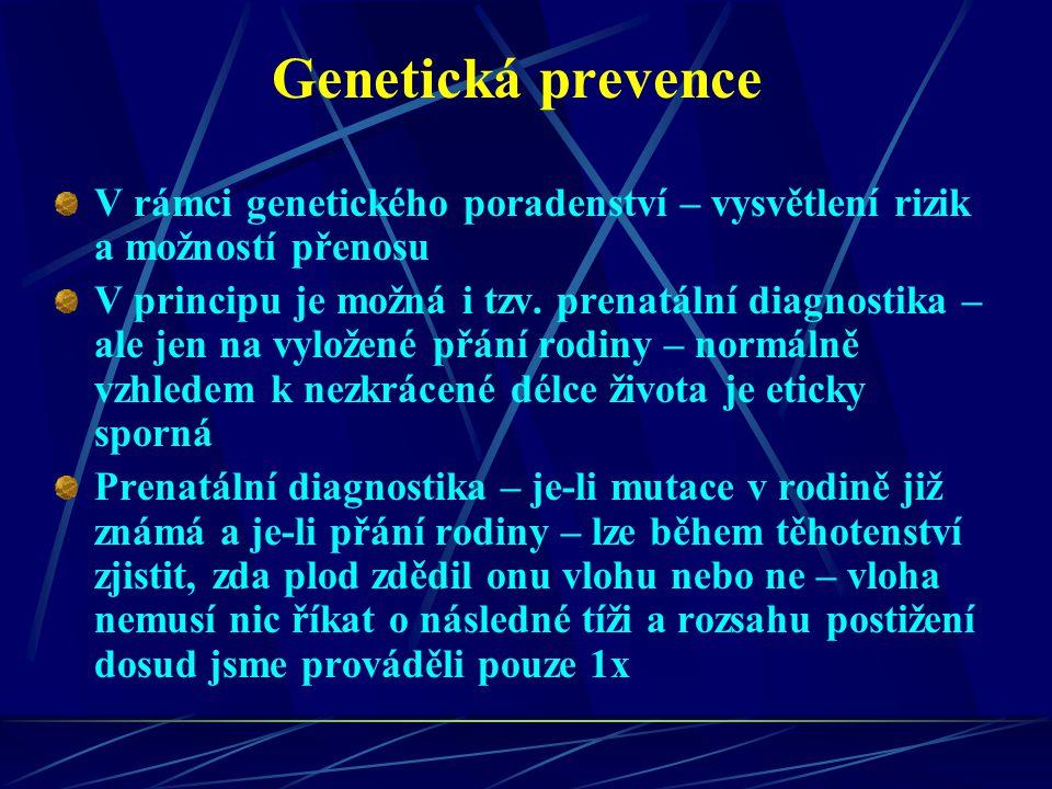 Genetická prevence V rámci genetického poradenství – vysvětlení rizik a možností přenosu.