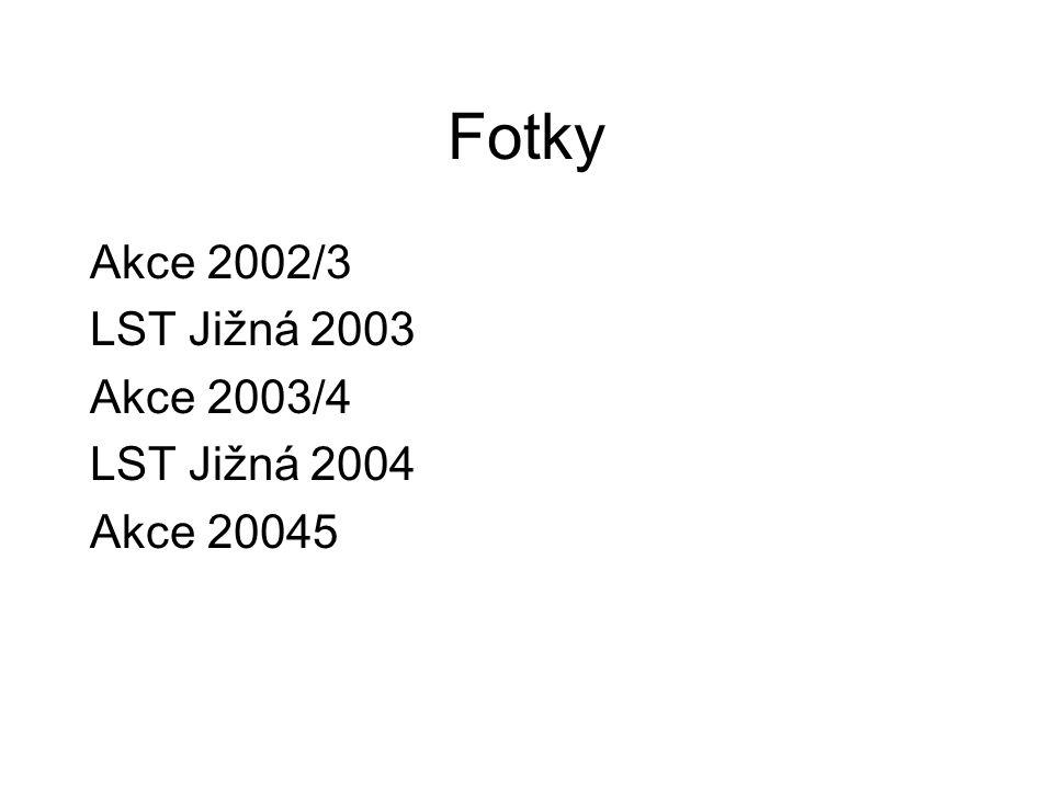 Fotky Akce 2002/3 LST Jižná 2003 Akce 2003/4 LST Jižná 2004 Akce 20045