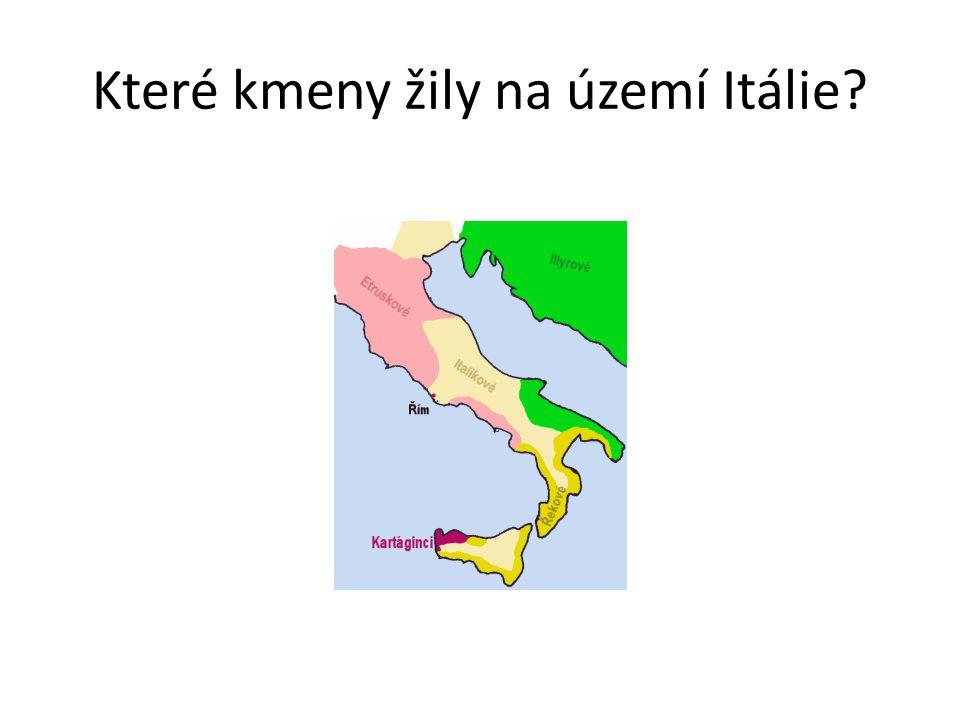 Které kmeny žily na území Itálie