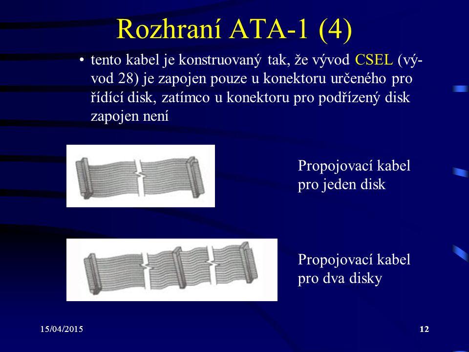 Rozhraní ATA-1 (4)