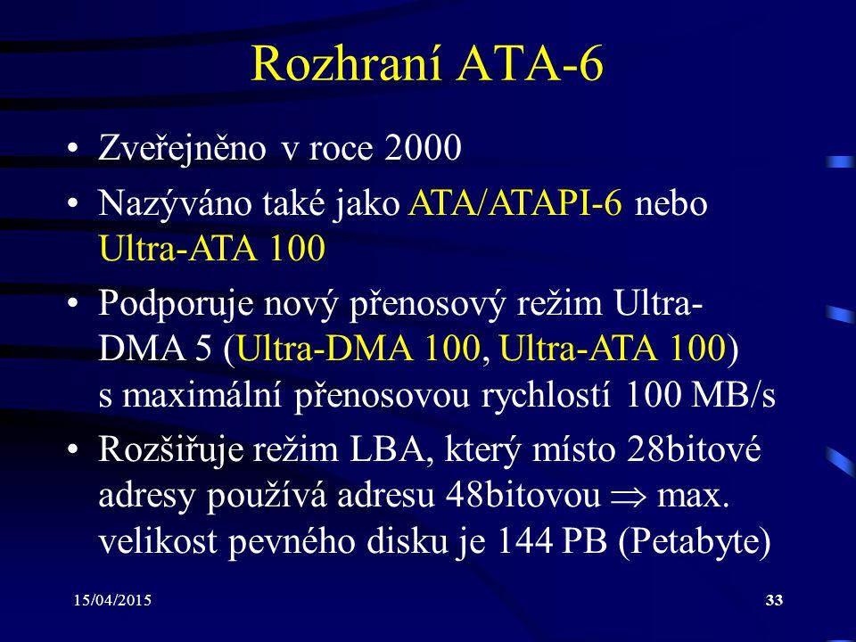 Rozhraní ATA-6 Zveřejněno v roce 2000