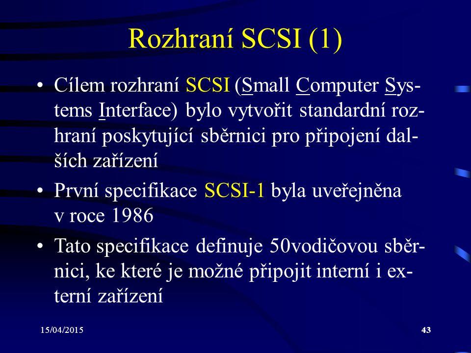 Rozhraní SCSI (1)
