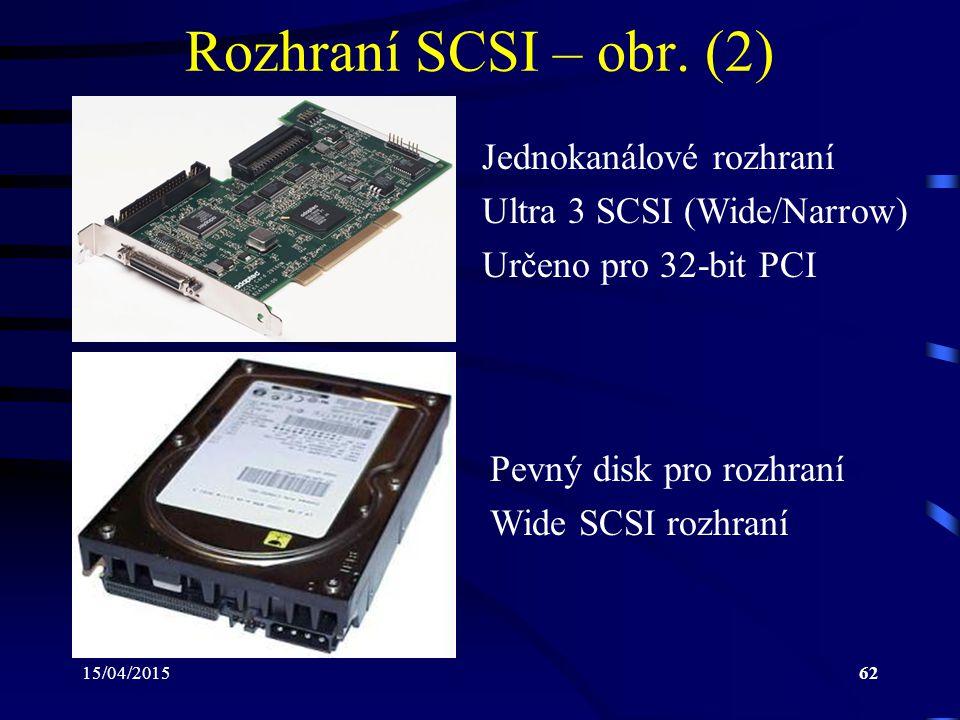 Rozhraní SCSI – obr. (2) Jednokanálové rozhraní