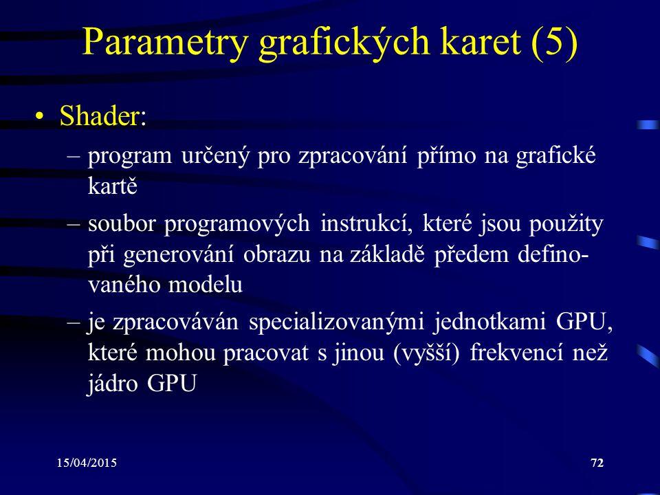 Parametry grafických karet (5)