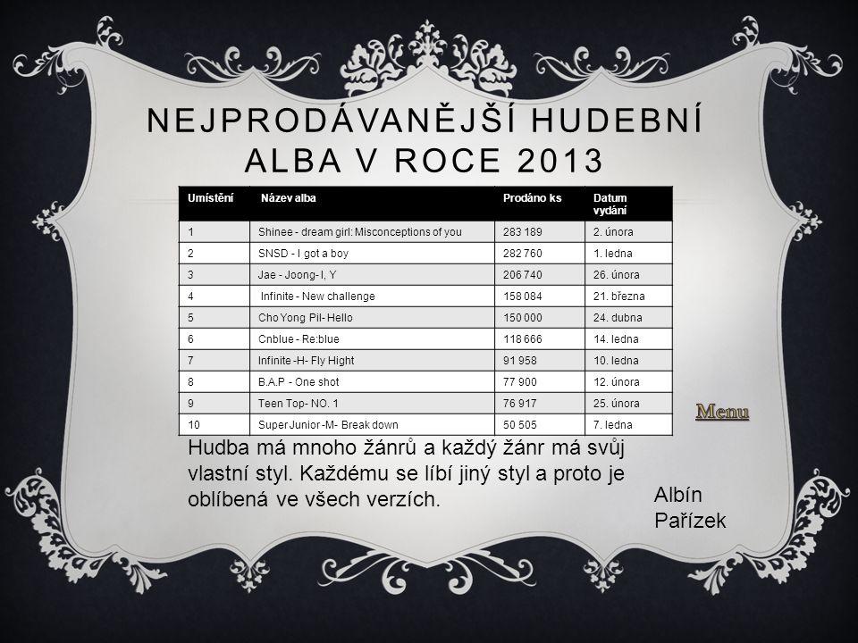 Nejprodávanější hudební alba v roce 2013