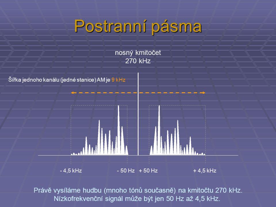 Postranní pásma nosný kmitočet 270 kHz