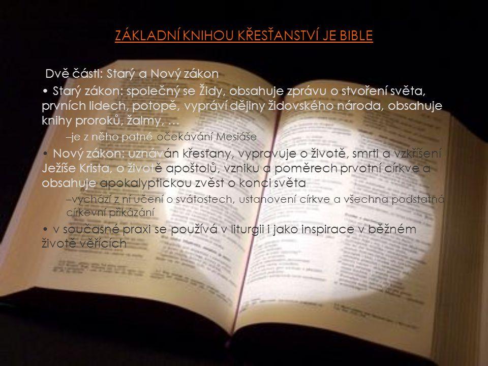 ZÁKLADNÍ KNIHOU KŘESŤANSTVÍ JE BIBLE