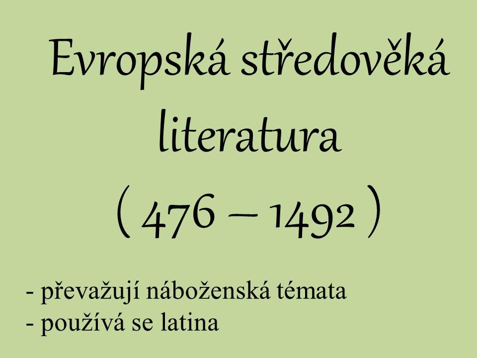 Evropská středověká literatura