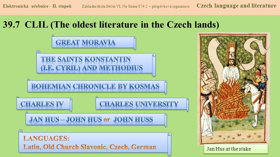 39.7 CLIL (The oldest literature in the Czech lands)
